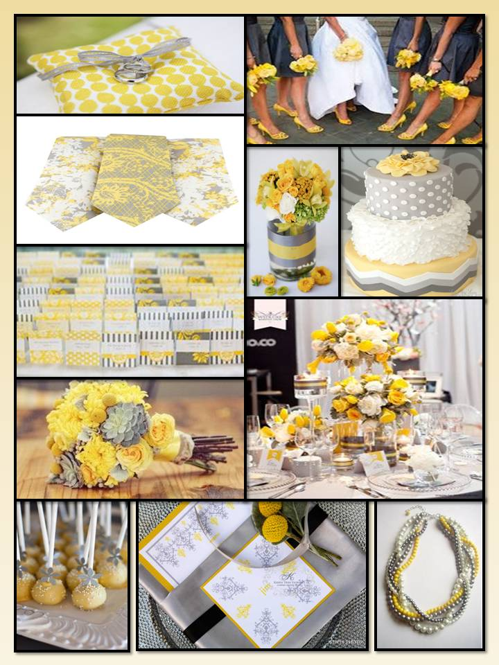 Yellow & Grey Wedding Inspiration